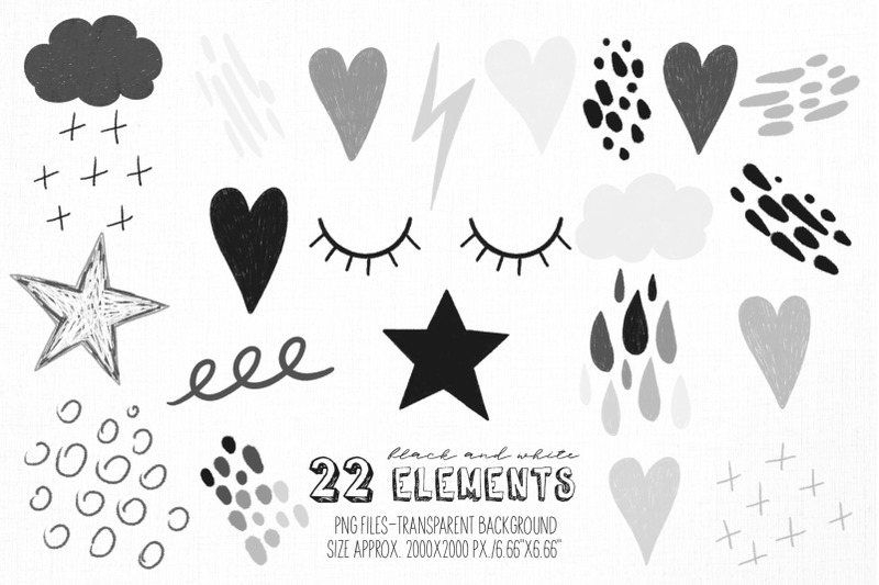 black-and-white-rainbow-clipart