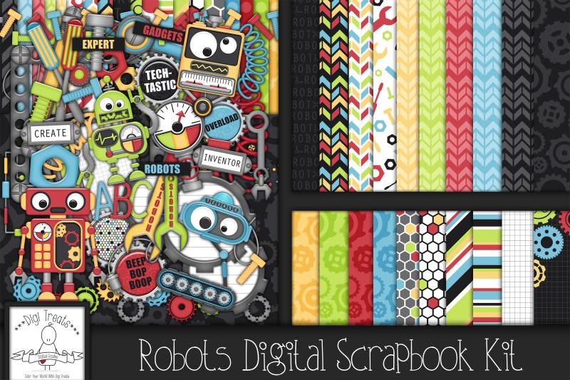 robots-digital-scrapbook-kit