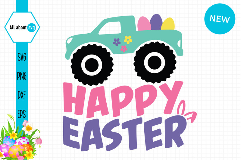 happy-easter-truck-svg
