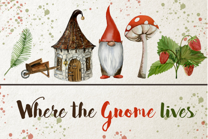 watercolor-gnome-clip-art-set