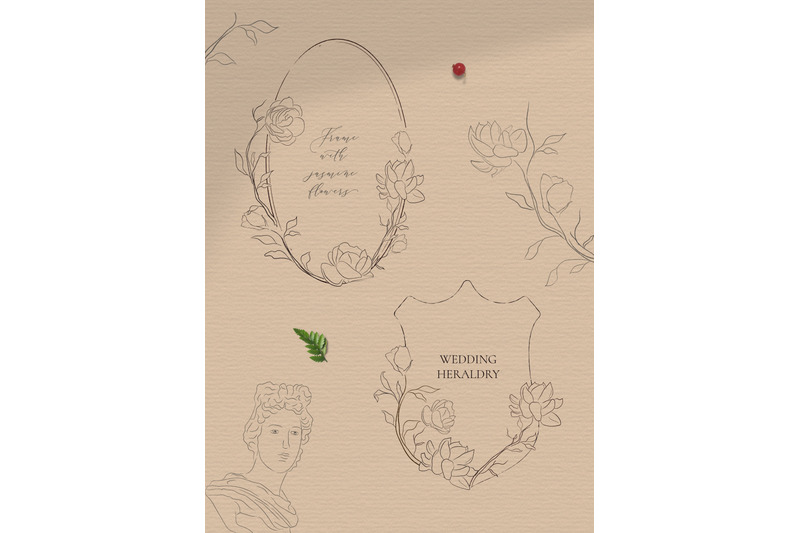 line-drawing-delicate-wreaths-amp-floral-frames-illustrations