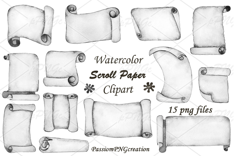 watercolor-scroll-paper-clipart