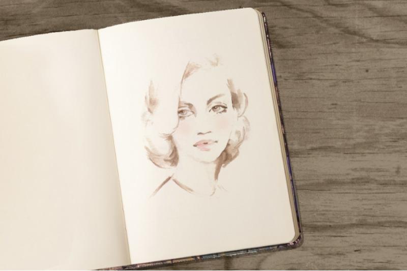 beautiful-woman-watercolor-sketch