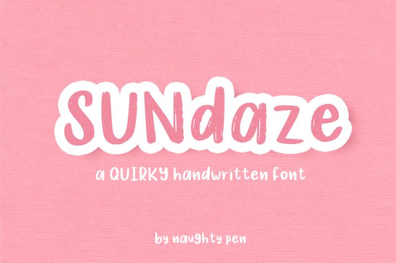 sundaze-quirky-handwritten-font