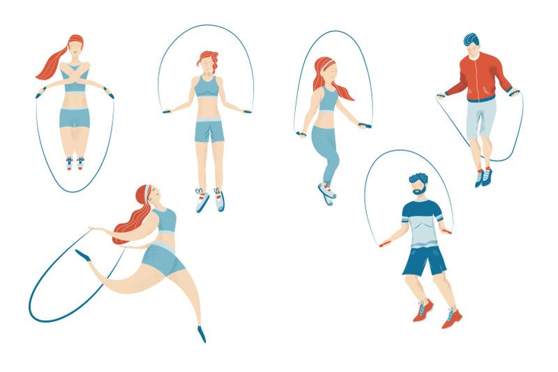 sport-activity-series-vector-illustrations