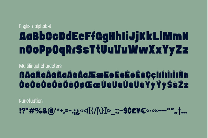 bushman-font-set