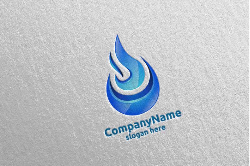 3d-fire-flame-element-logo-design-1