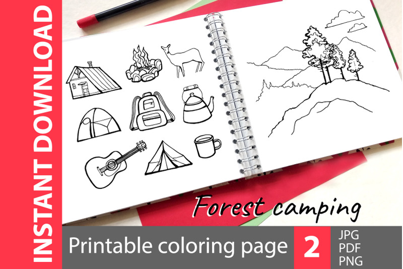 forest-camping-2-coloring-pages