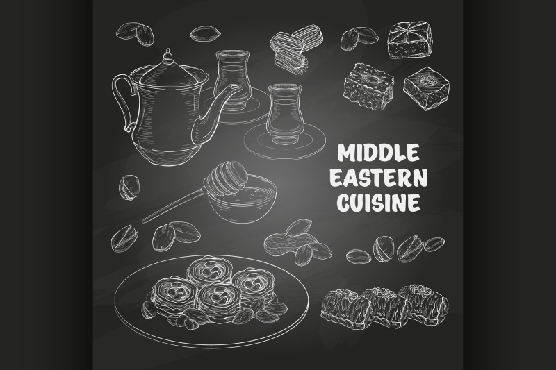 arabic-food-middle-eastern-sweets-and-tea