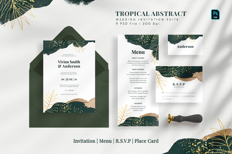 tropical-abstract-wedding-suite
