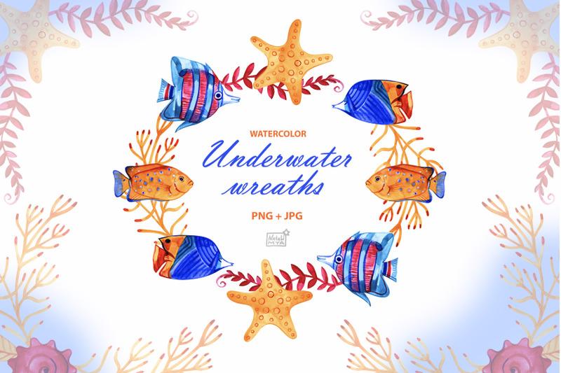 watercolor-underwater-cliparts