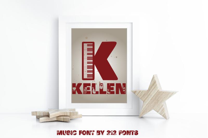 music-display-caps-font-and-bonus-instruments-amp-notes-dingbat