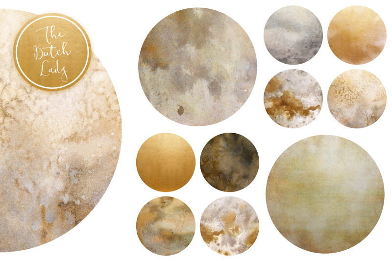 beige-amp-gold-circle-clipart-set