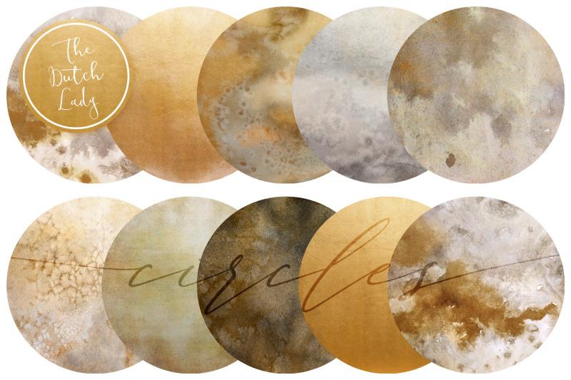 beige-amp-gold-circle-clipart-set
