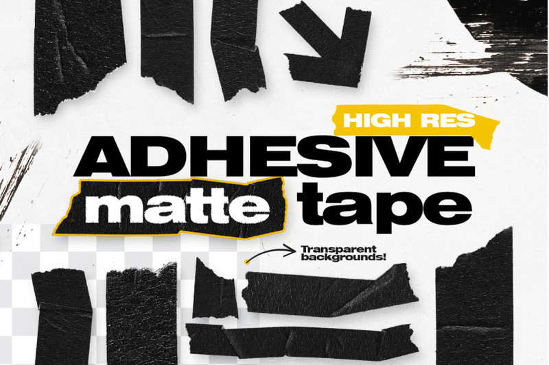 high-res-adhesive-matte-tape-objects
