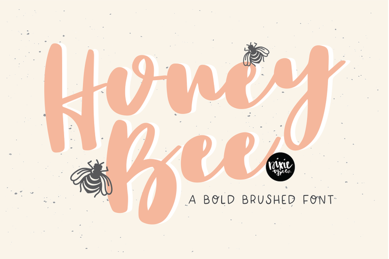 honey-bee-a-bold-brushed-font