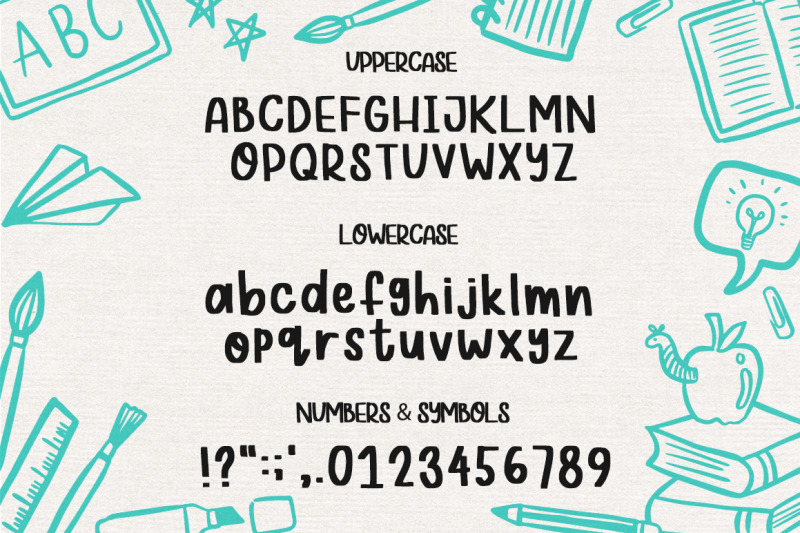 school-marker-font-doodles
