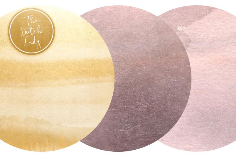 blush-amp-gold-circle-clipart-set