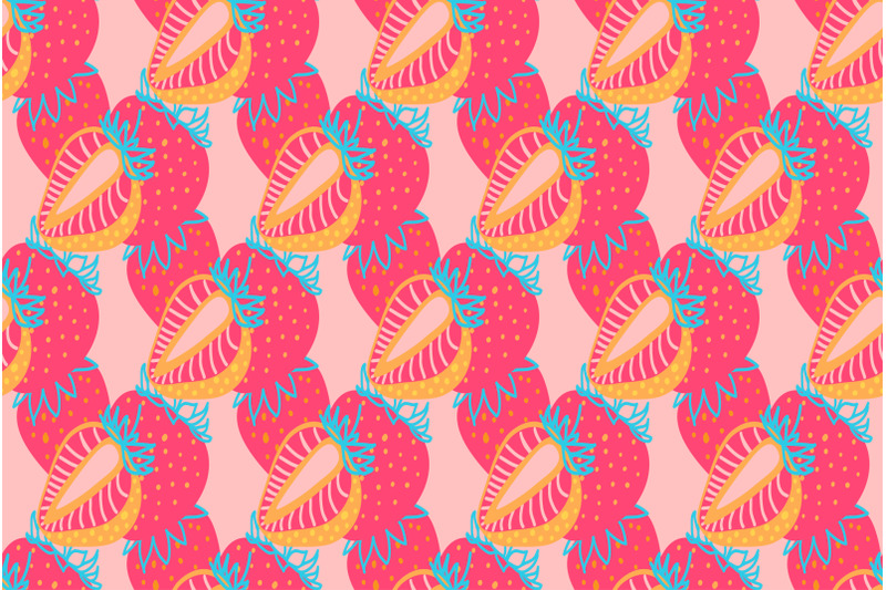 seamless-pattern-of-strawberrys-virtual-background-for-zoom