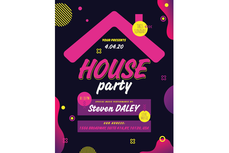 house-party-flyer-poster