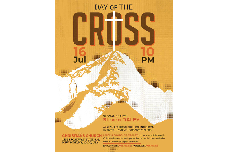 cross-day-church-flyer