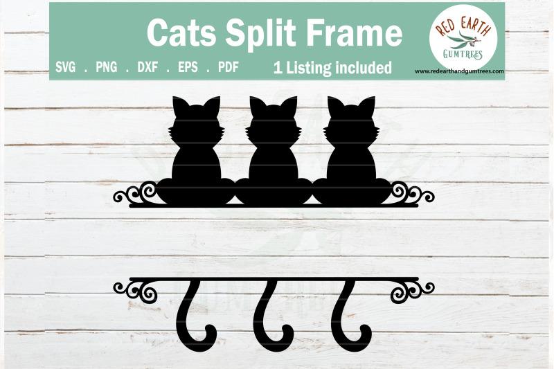 cat-split-monogram-frame-svg-sitting-cats-svg-png-dxf-eps