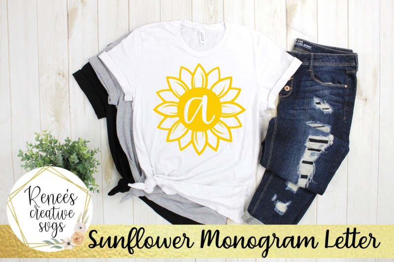 sunflower-monogram-letters