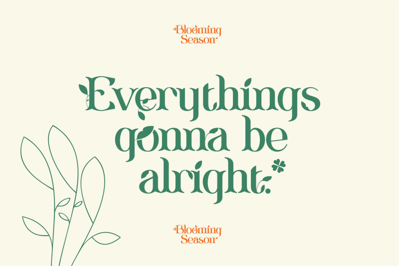 blooming-season-font