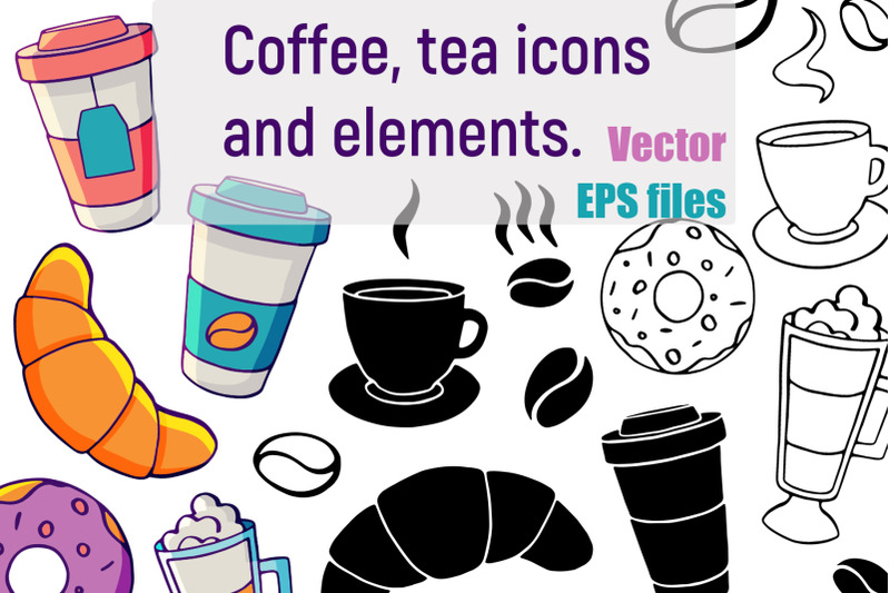 vector-coffee-and-tea-elements