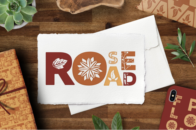 rose-road-scandinavian-floral-font