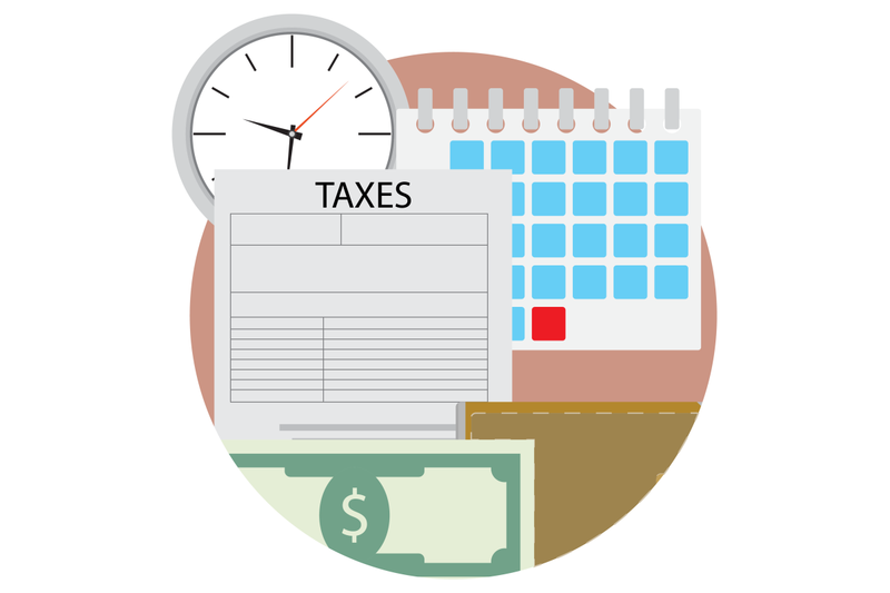 time-pay-tax-icon