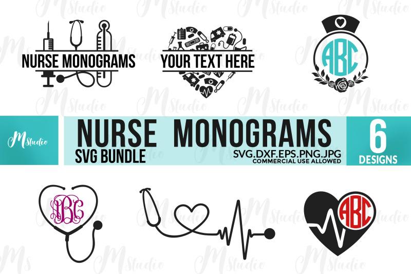 nurse-monogram-svg-bundle