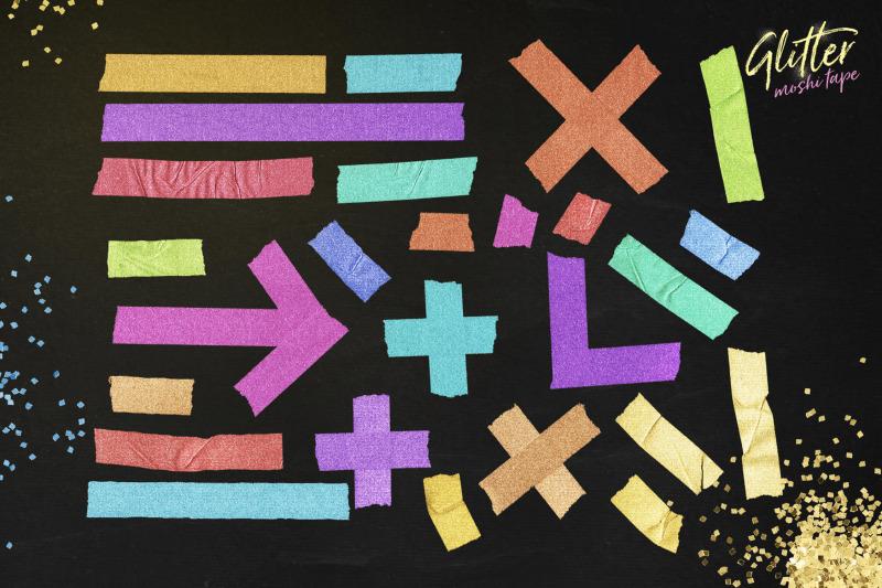 glitter-moshi-tape-objects