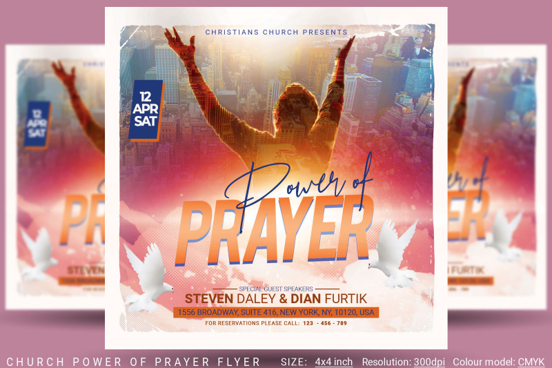 power-of-prayer-church-flyer
