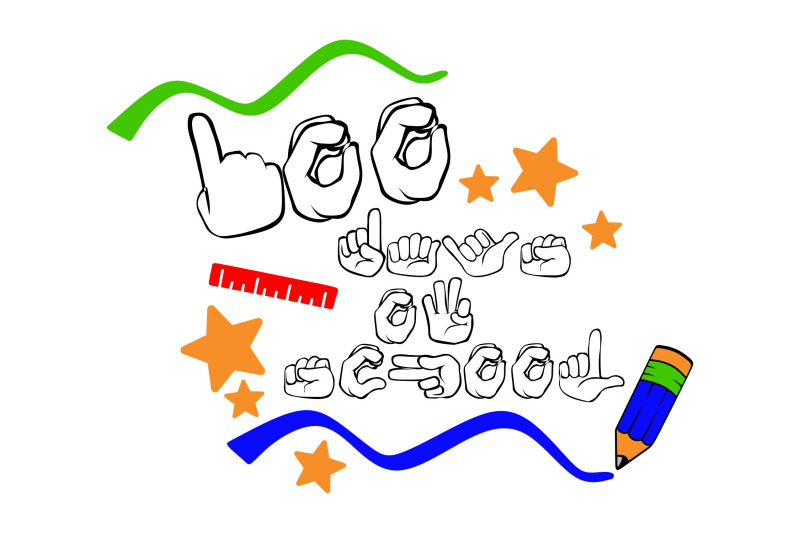 100-days-of-school-sign-language-svg-png-eps