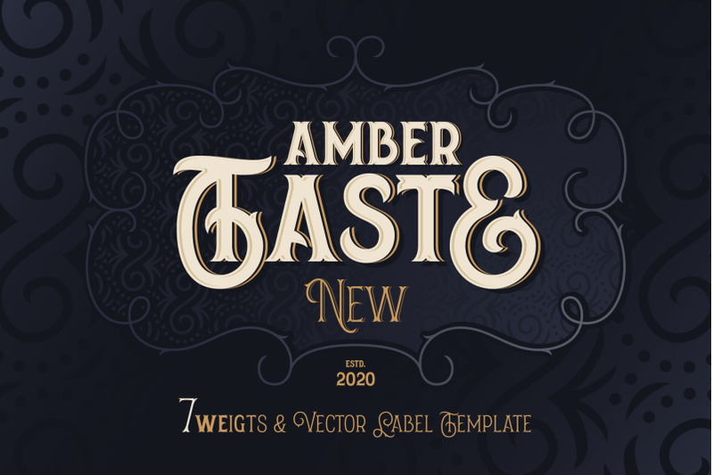 amber-taste-new-font-and-template