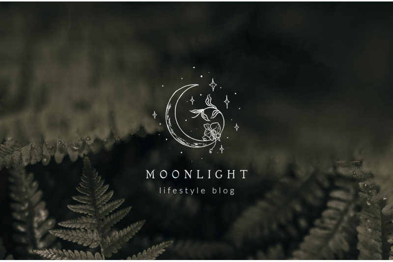 premade-moon-brand-logo-design-for-blog-or-small-business-hand-drawn