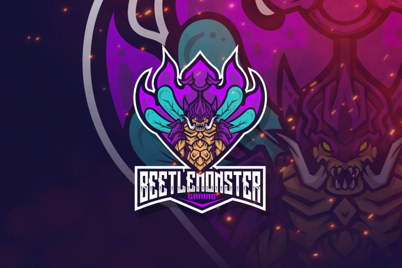 beetle-monster-logo-template