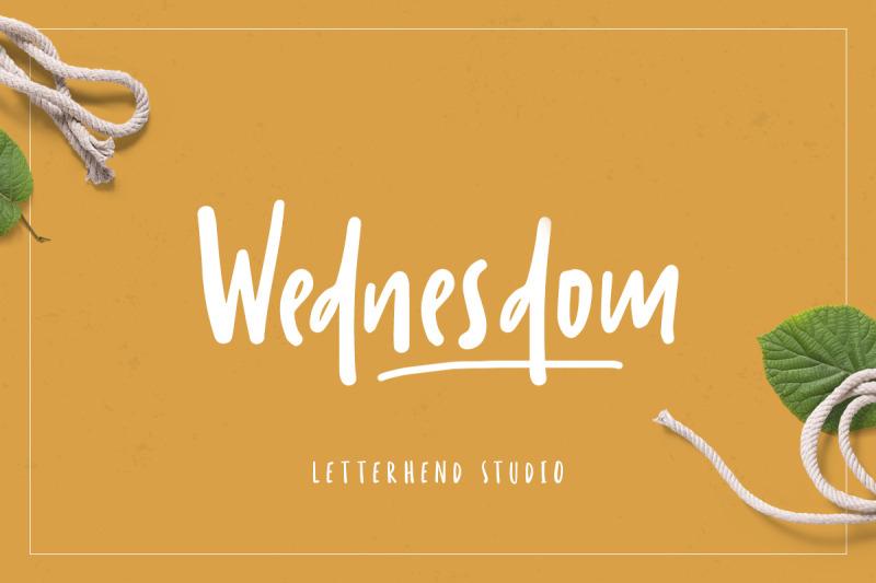 wednesdom-playful-font
