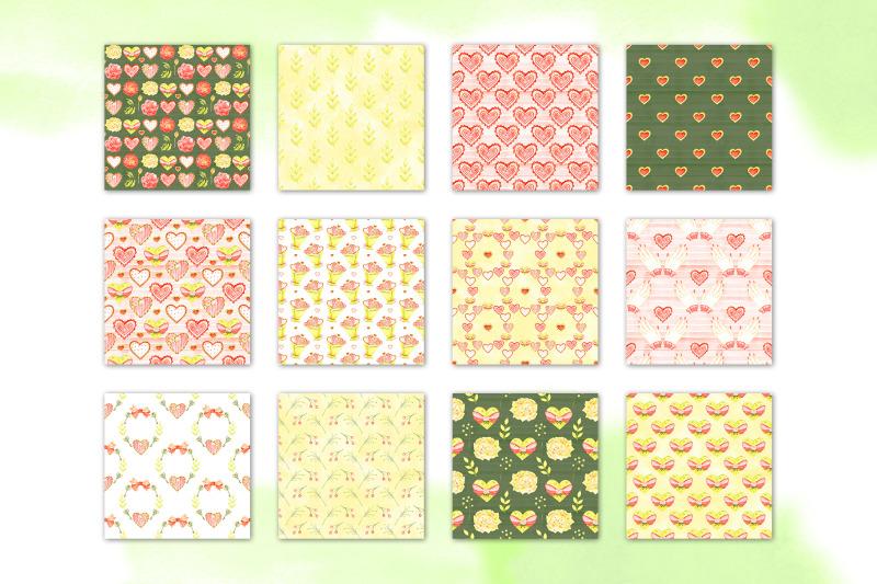 watercolor-tender-love-digital-paper