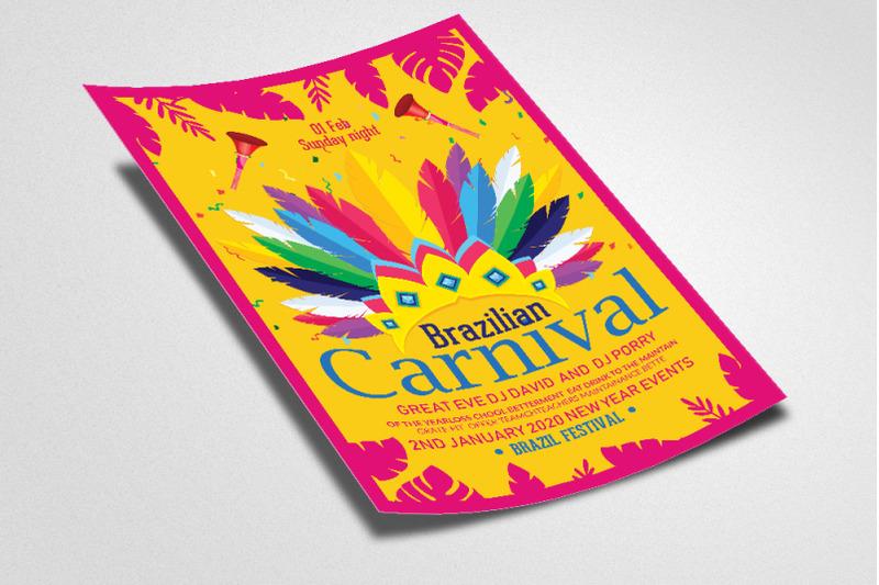 carnival-brazilian-festival-flyer