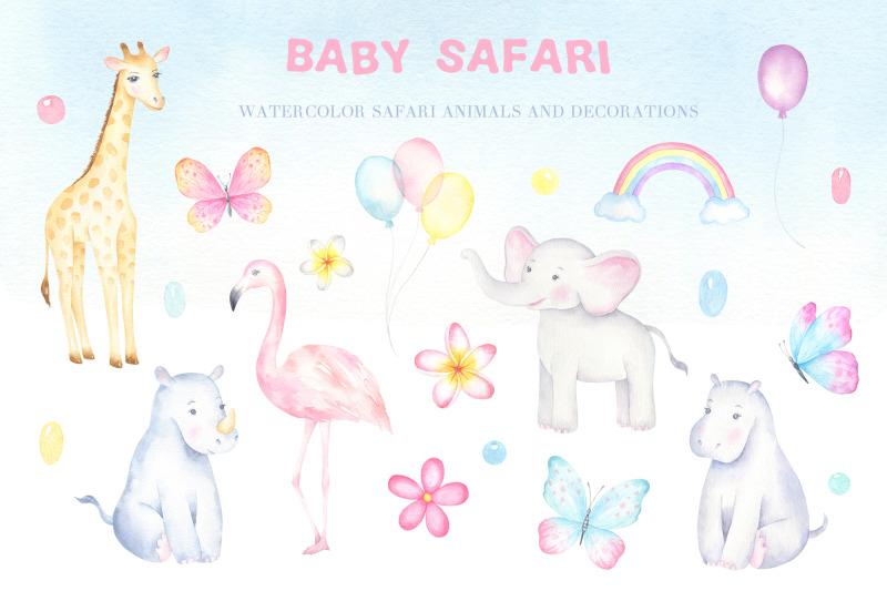 baby-safari-watercolor-collection