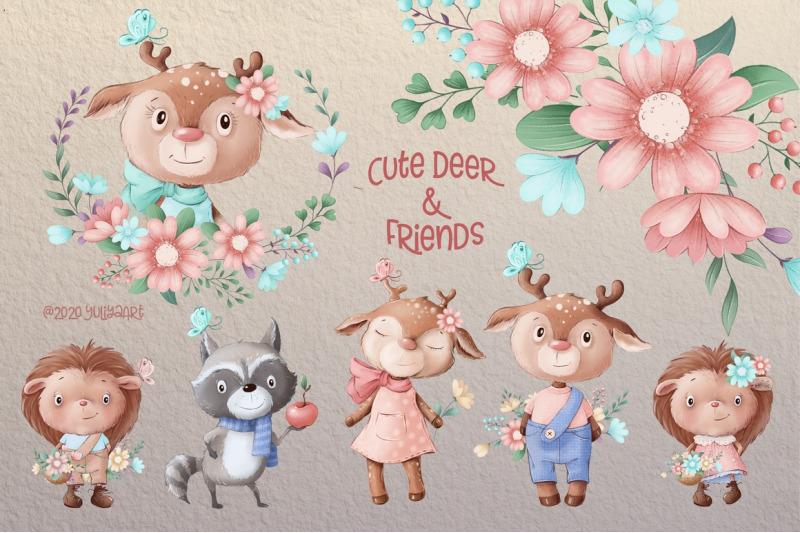 cute-deer-and-friends