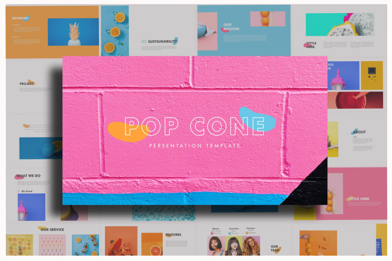 pop-cone-full-color-powerpoint