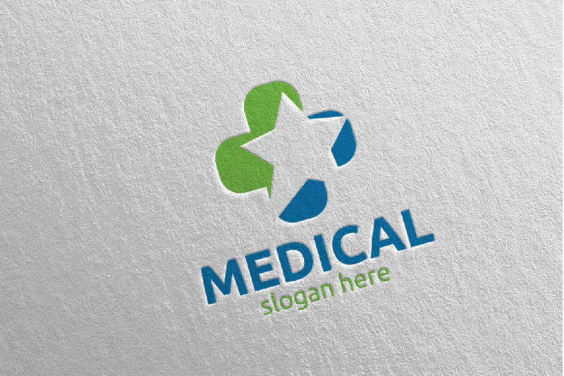 star-medical-hospital-logo-design-92