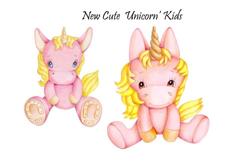 new-unicorn-039-kids-watercolor-illustration