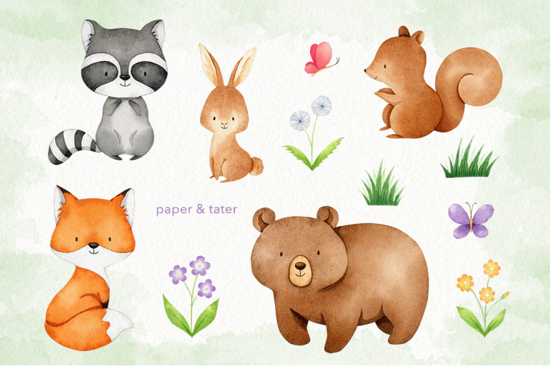 watercolor-woodland-animals-clipart-graphics