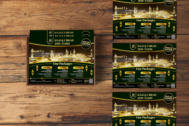 Hajj and Umrah Travel Agency Flyer By Design Addict ...