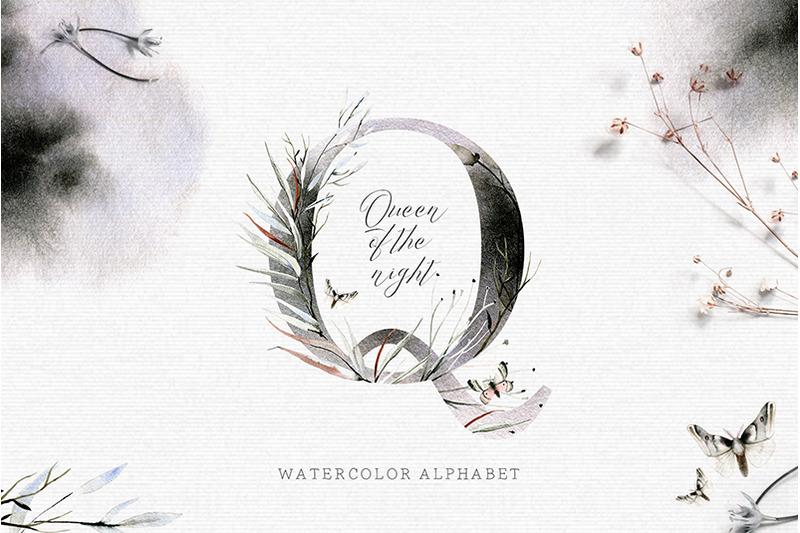 queen-of-the-night-watercolor-alphabet