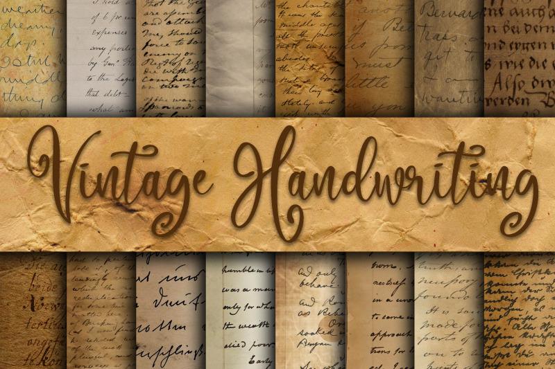vintage-handwriting-digital-paper-textures
